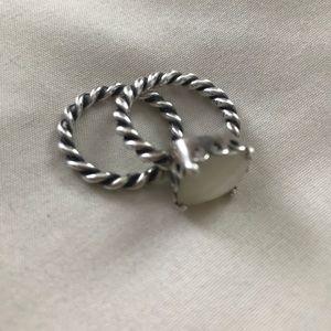 Pandora Mother of Pearl ring set